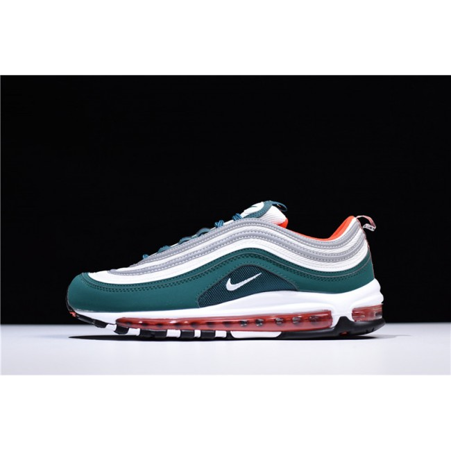 Mens Nike Air Max 97 Rainforest White-Team Orange