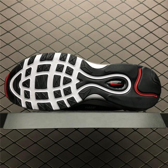 Mens Nike Air Max 97 Premium Black White-Varsity Red