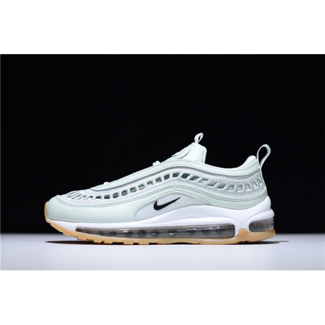 Womens Nike Air Max 97 Ultra Barely Green Black-Gum Yellow