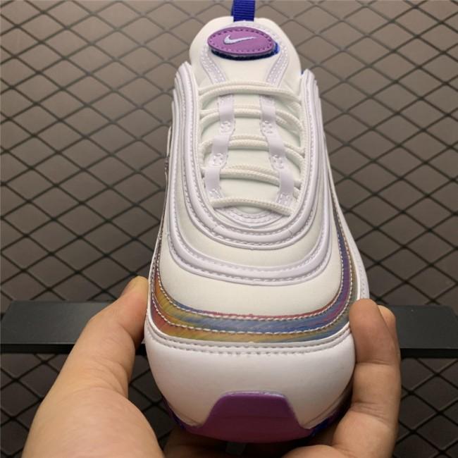 Womens Nike Air Max 97 White Iridescent Stripes