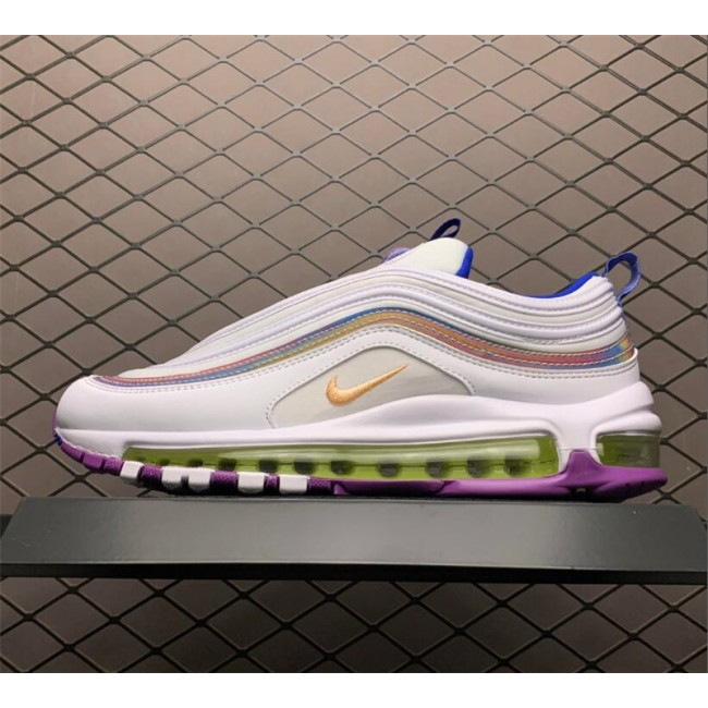 Womens Nike Air Max 97 White Iridescent Stripes