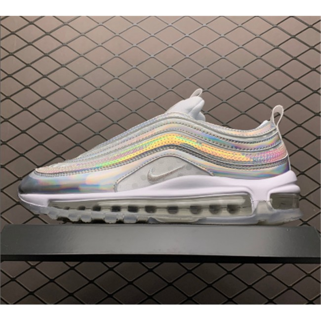 Mens/Womens Nike Air Max 97 White iridescent CU8872-196
