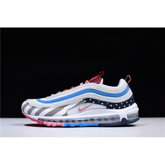 Mens/Womens Piet Parra x Nike Air Max 97 White Multicolor Sneakers