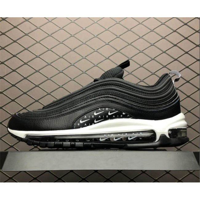 Mens/Womens Nike Air Max 97 Swoosh Air Logos Lux Black White