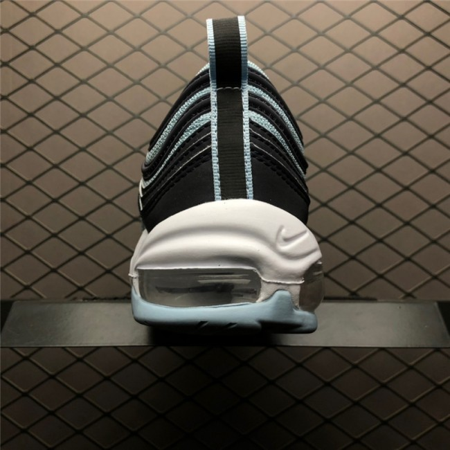 Mens/Womens Nike Air Max 97 Premium Ocean Bliss Dark Obsidian-University Red