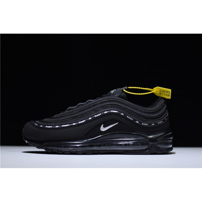 Mens/Womens Kappa x Nike Air Max 97 OG Black Silver Running Shoes