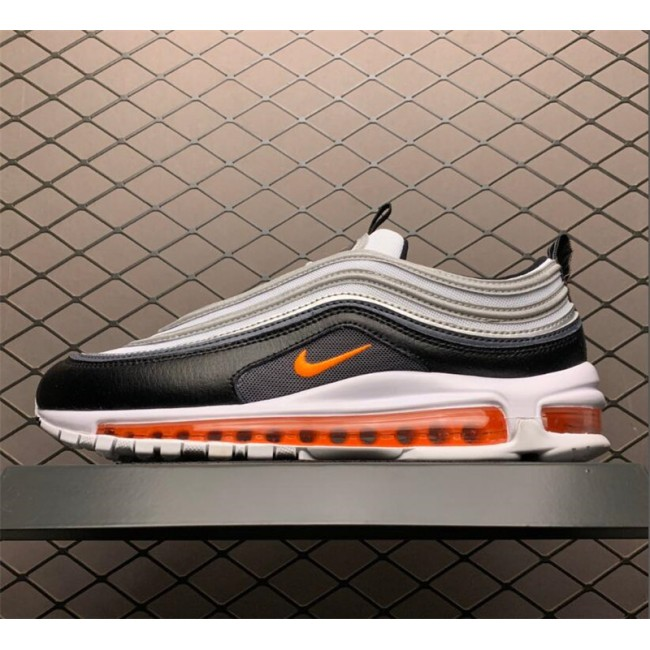 Mens/Womens Nike Air Max 97 Black And Orange Shoes