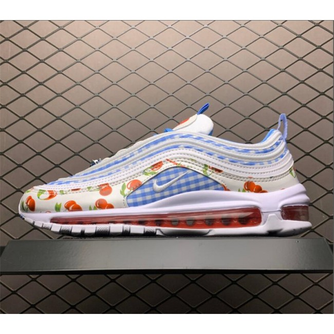 Mens/Womens Nike Air Max 97 Cherry University Blue