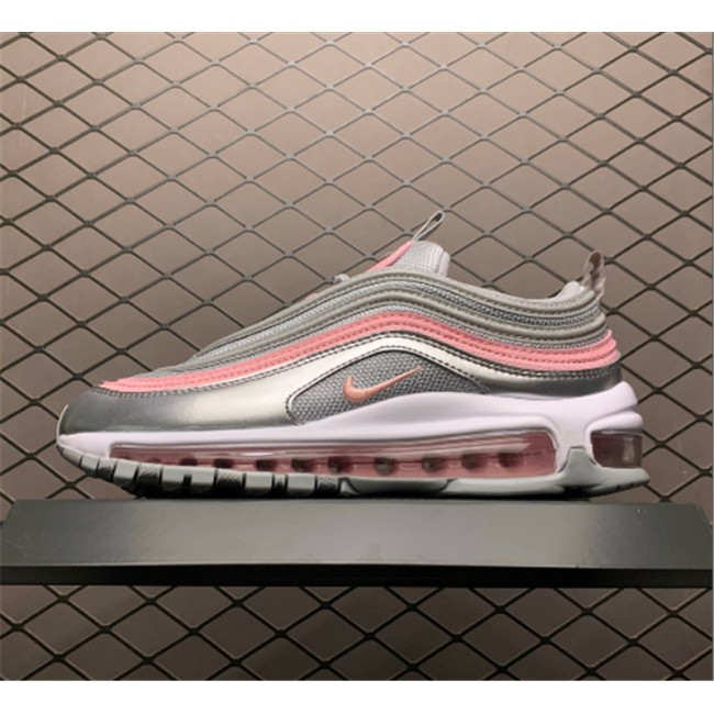 Womens Nike Air Max 97 GS Silver and Pink 921522-021