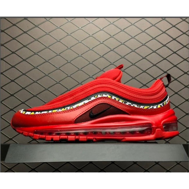 Mens/Womens Nike Air Max 97 Red Leather Essential For AQ0655-121