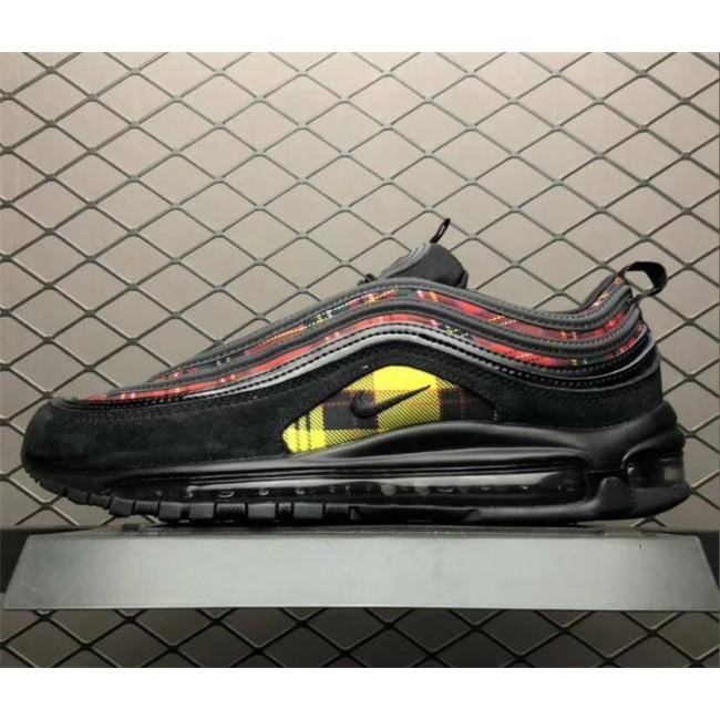 Mens/Womens Nike Air Max 97 Tartan Black University Red-Amarillo