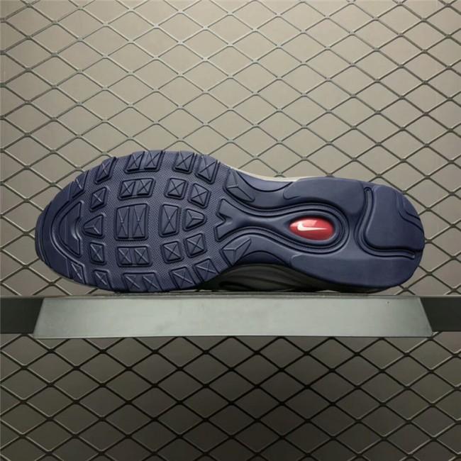 Mens/Womens Nike Air Max 97 White Blackened Blue-Red Crush