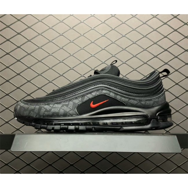 Mens/Womens Nike Max 97 Reflective Logo Black University Red Black