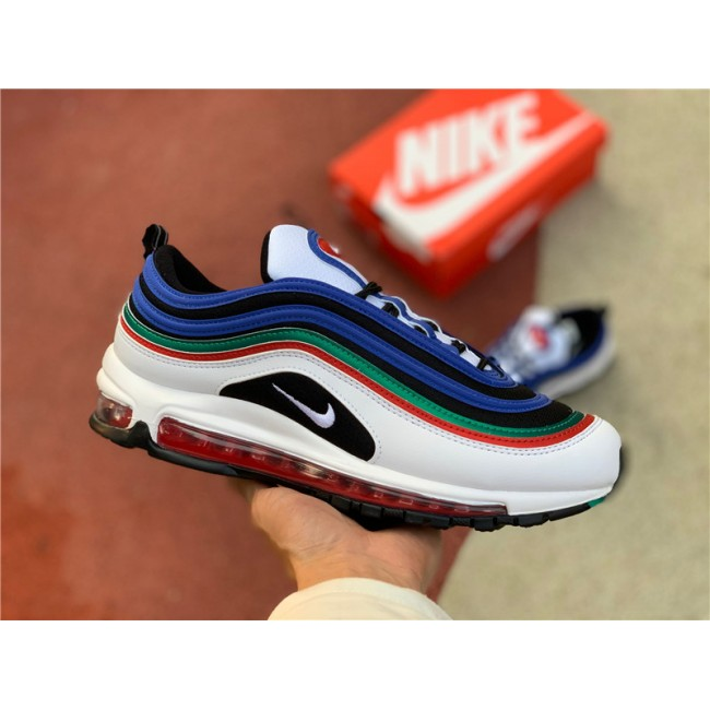 Mens/Womens Shop Nike Air Max 97 White Multi Running Shoes