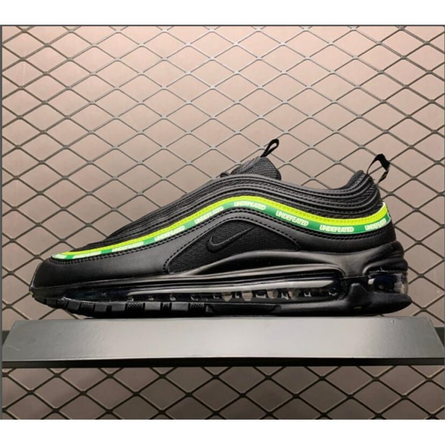 Mens/Womens Undefeated x Nike Max 97 Black Green AJ1986-111