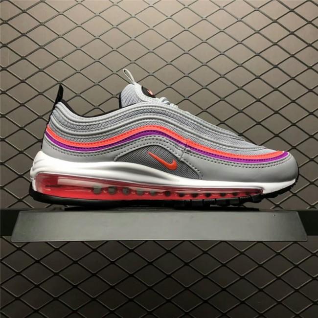 Womens Nike Air Max 97 OG Grey Red Purple-Black 921733-009