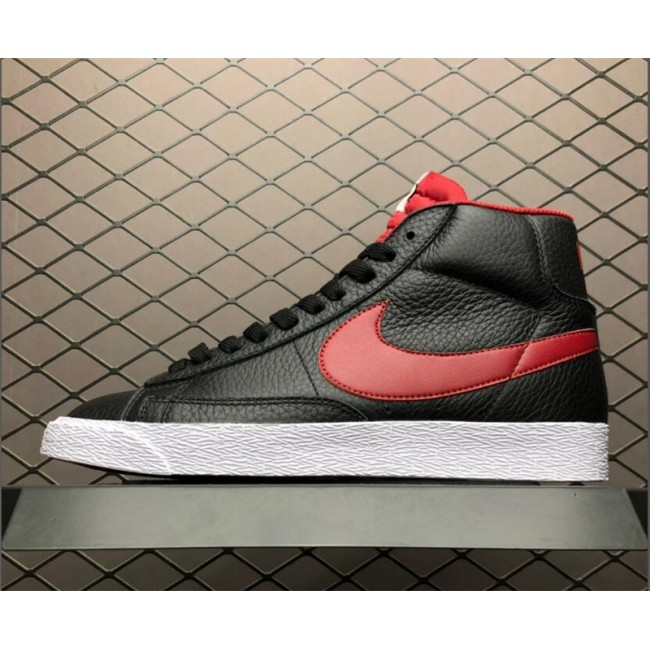 Mens/Womens Nike Blazer Mid PRM VNTG Black Gym Red-Bright Crimson