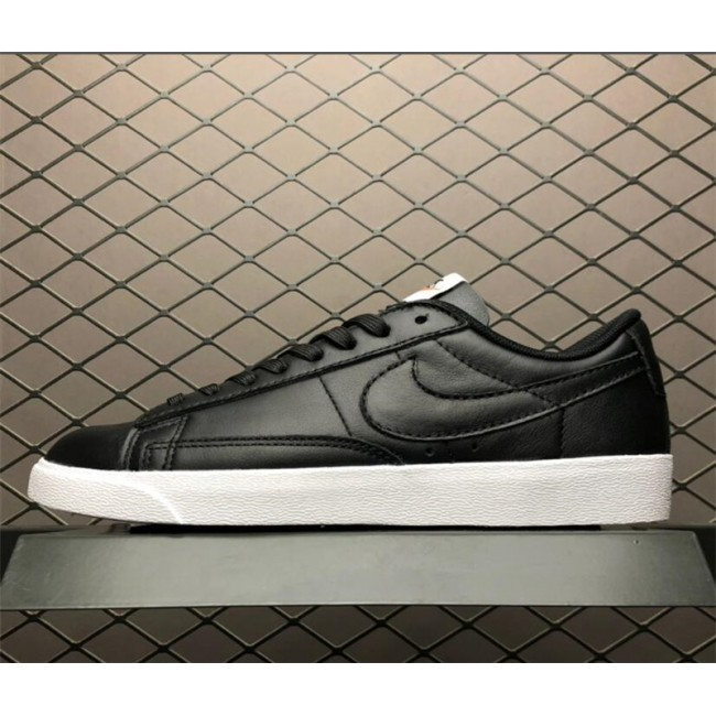 Womens Nike Blazer Low LE Black White Sneakers AA3961-001