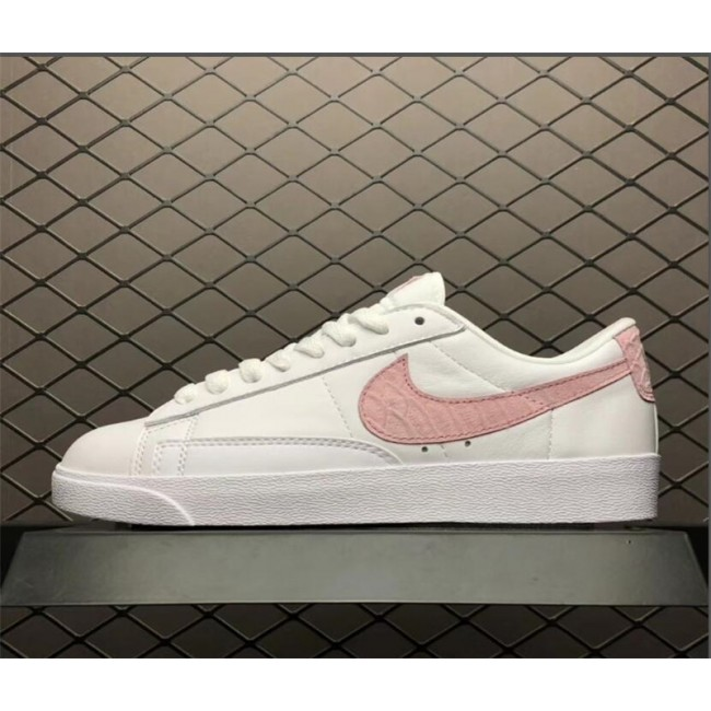 Womens Nike Blazer Low SE PRM White Pink AA1557-116