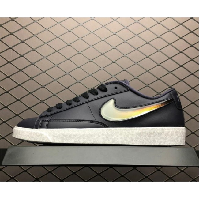 Womens Nike Blazer Low Jelly Swoosh Black White AV9371-002