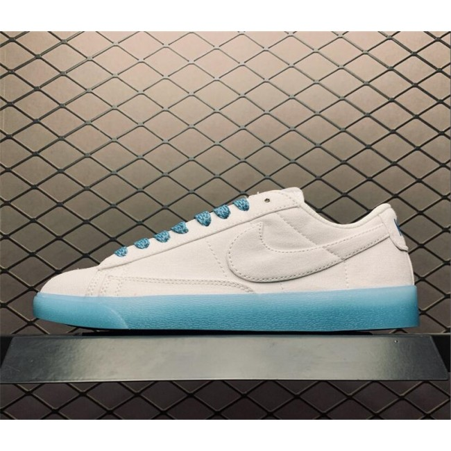 Womens Woman Nike Blazer Low Sky Blue White AV9371-118