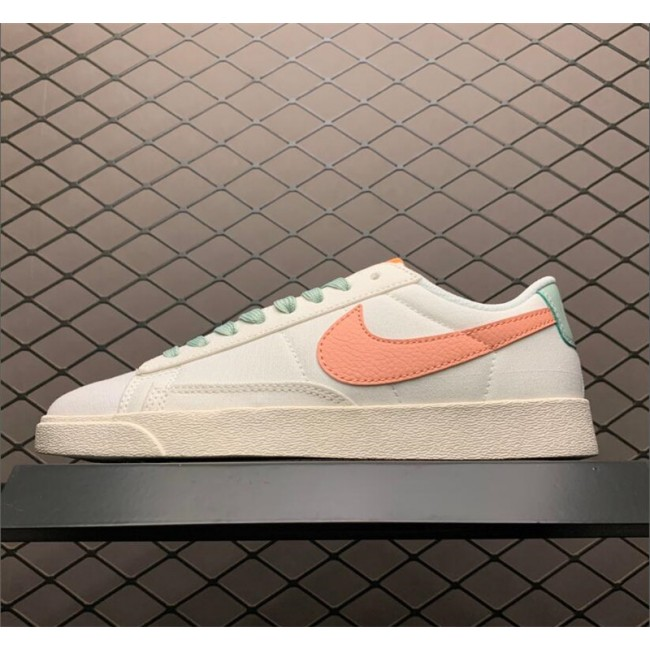 Womens Nike Blazer Low Beige Orange AV9371-605