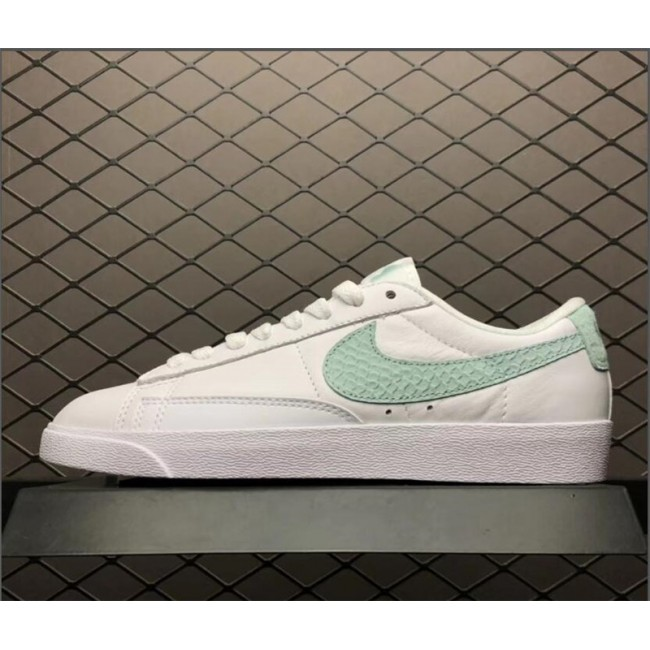 Womens Nike Blazer Low PRM White Green