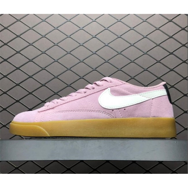 Womens Nike Blazer Low Suede Plum Chalk Shoes AV9373-500