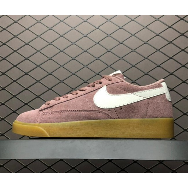 Womens Nike Blazer Low Suede Smokey Mauve Running Shoes