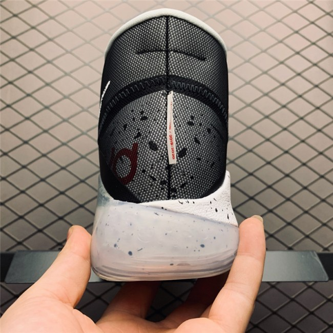 Mens Nike KD 12 Black Cement Black White-Wolf Grey