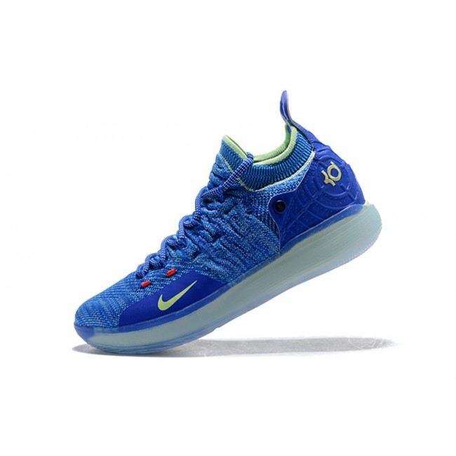 Mens Nike KD 11 Paranoid Blue Yellow