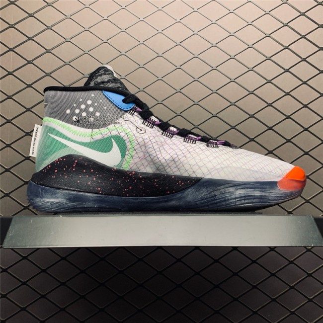 Mens Nike KD 12 EP Be Ture White Black-Multi-Color AR4230-108