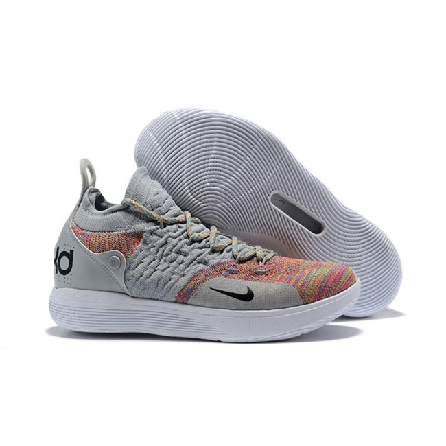 Mens New Release Nike KD 11 Cool Grey Multi-Color Shoes