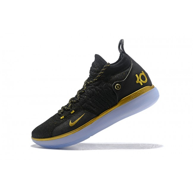 Mens Nike KD 11 Black Gold Online