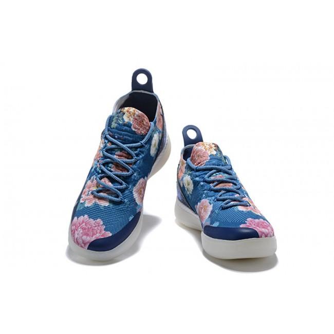 Mens Nike KD 11 Floral Blue Basketball Shoes Outlet