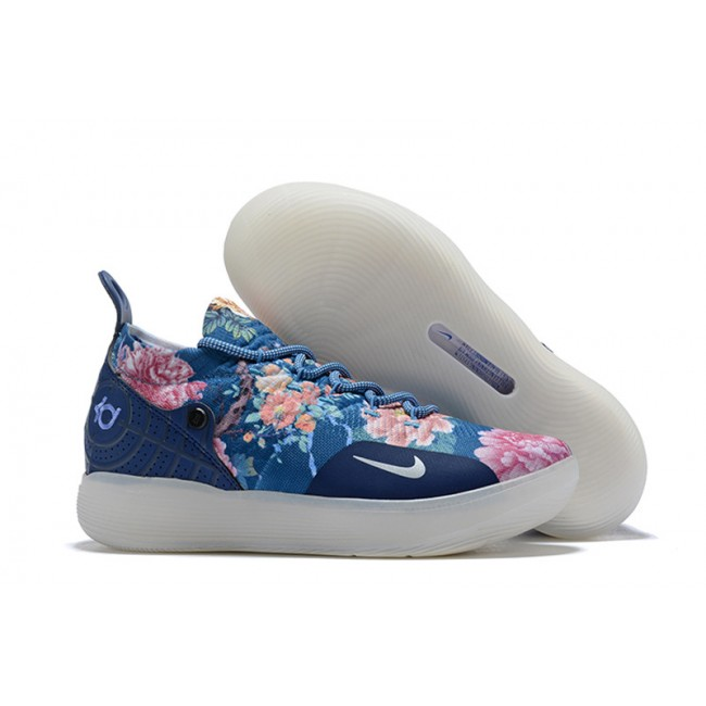 Mens Nike KD 11 Floral Blue Basketball Shoes Outlet