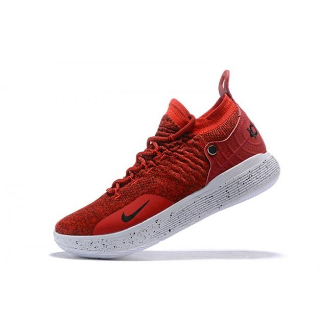Mens Nike KD 11 Gym Red White-Black
