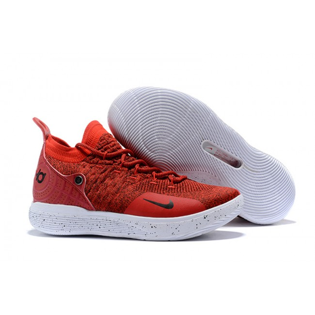 Mens Nike KD 11 Gym Red White-Black