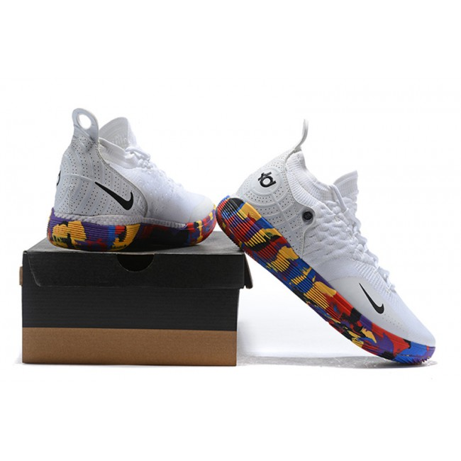 Mens Nike KD 11 NCAA March Madness White Multi-Color Outlet