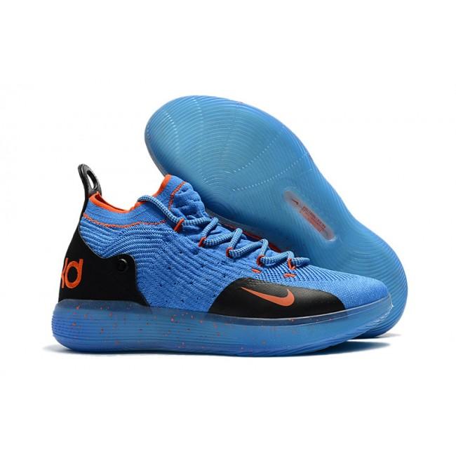 Mens Nike KD 11 Royal Blue Black-Orange