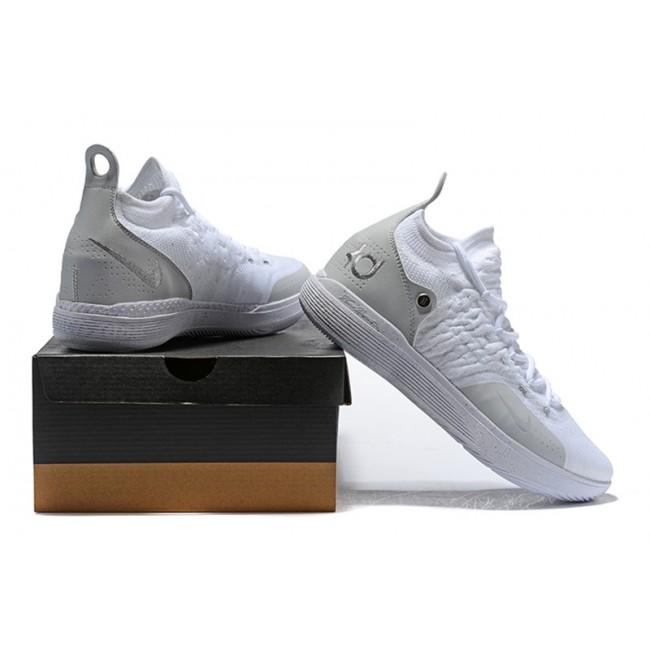 Mens Nike KD 11 White Chrome-Pure Platinum Free Shipping