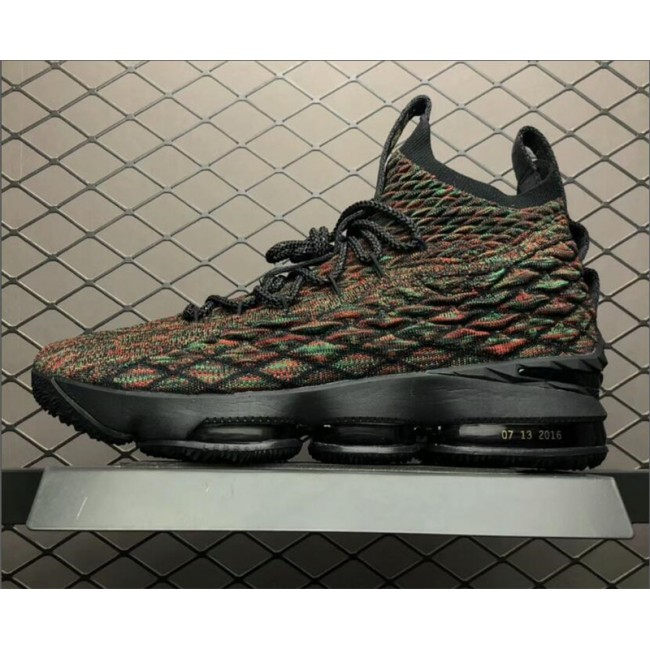 Mens Nike LeBron 15 BHM Black Multi-Color