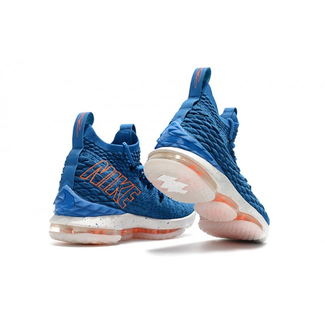 Mens Nike LeBron 15 HWC Hardwood Classics Photo Blue