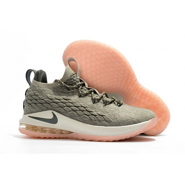 Mens Nike LeBron 15 Low Light Bone Dark Stucco-Sail