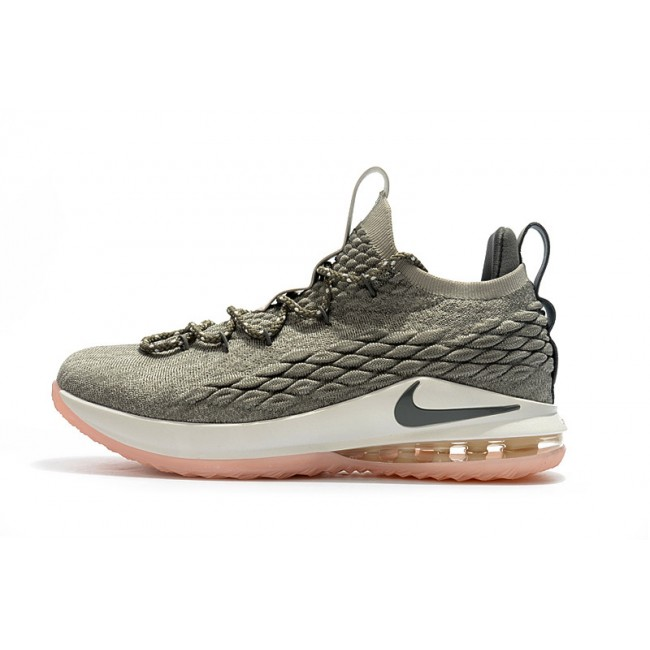 Mens Nike LeBron 15 Low Light Bone Dark Stucco-Sail