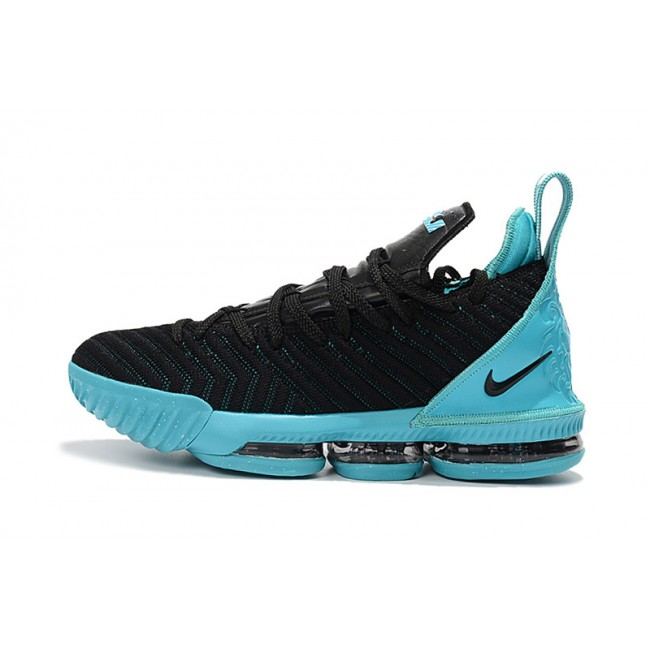 Mens Nike LeBron 16 Black Jade Sneakers