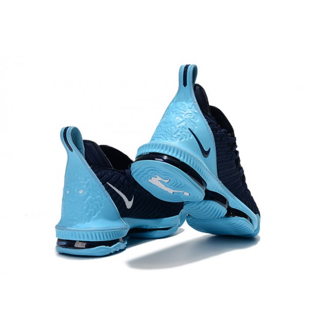 Mens Nike LeBron 16 Navy Blue Igloo Basketball