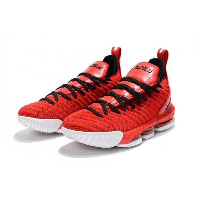 Mens Nike LeBron 16 University Red Black-White