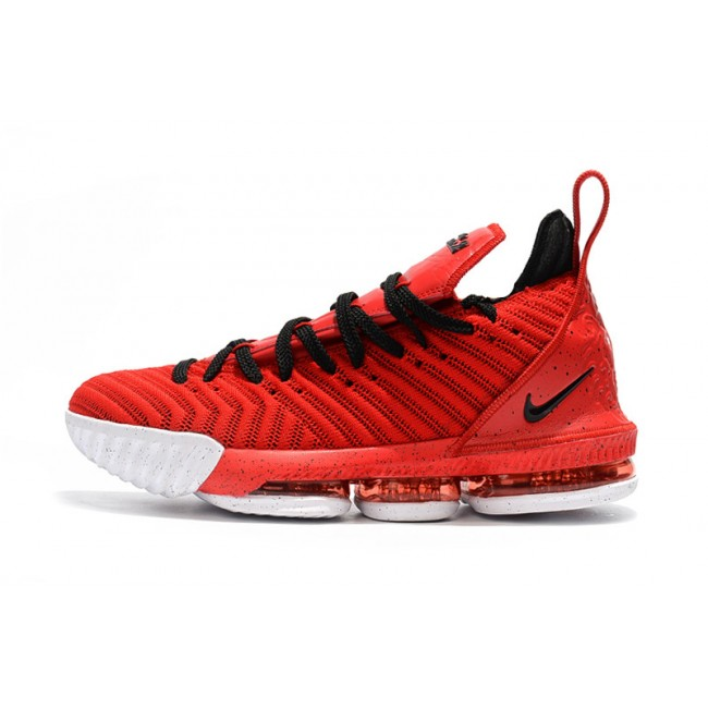 Mens Nike LeBron 16 University Red Black-White
