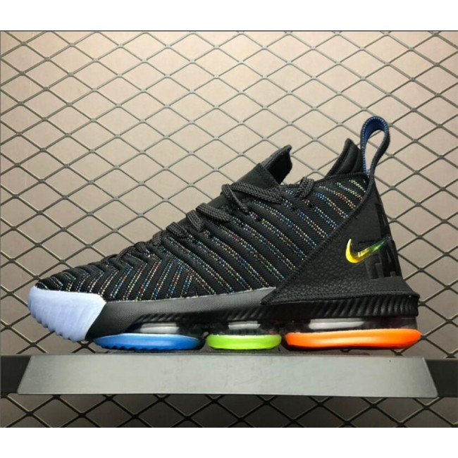Mens Nike LeBron 16 I Promise Black Multi-Color